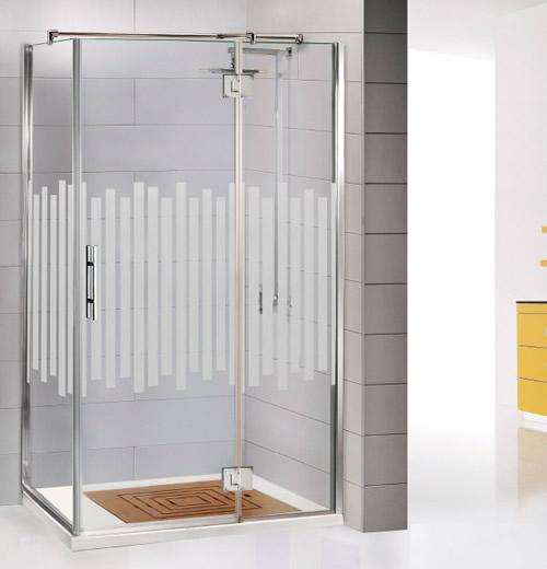 Mamparas de ducha bisagra rotativa aluminios moncloa for Duchas modernas 2018