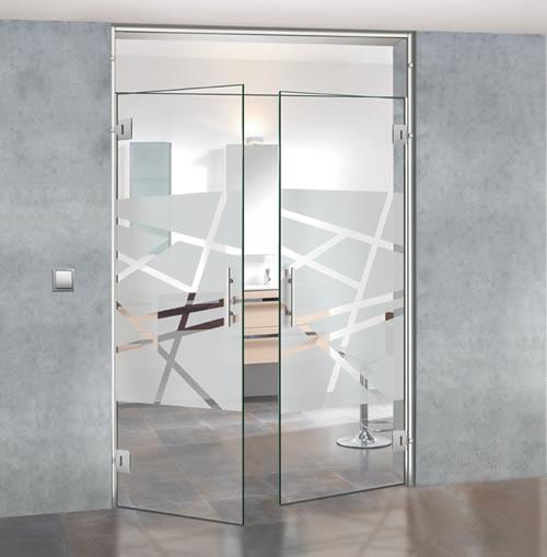 Puertas de paso de cristal abatibles bisagra aluminios for Instalar puerta corredera cristal